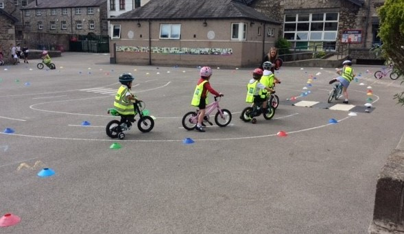 Reception cycling day